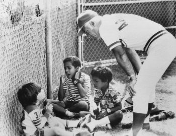 Sparky Anderson had a few things to say to Pete Rose Jr., and Victor and Eduardo Perez in 1975.