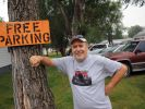 For two generations, the Smith family has provided free parking to fair-goers at their yard just west of the fairgrounds. Mark Smith (pictured) says his dad started the tradition because he sympathized with hard-working families who had to spend money even before they reached the gates.