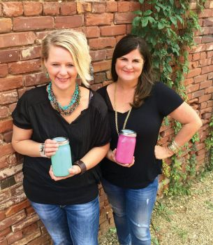 Carrie Jenson (left) and Amy Farley launched Stella's Paint in 2014.