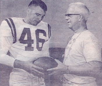 Joe Thorne and Coach Ralph Ginn.