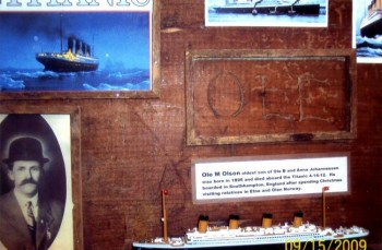 The Olson family's Titanic exhibit.