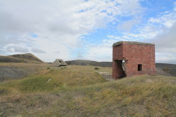 Mysterious ruins off Interstate 90 near Oacoma are the remains of a World War II-era manganese mine.