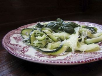 Creamy, garlicky zucchini alfredo will change your mind about the garden's most feared vegetable. Photo by Fran Hill.